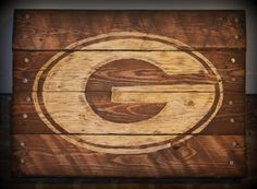 Georgia Bulldog #reclaimedwood #pallet sign! Perfect gift for dad's man cave. From HarveyPalletDesigns