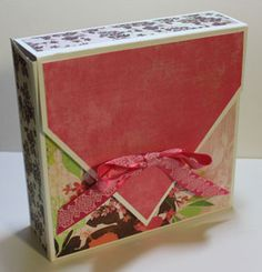 Make this little 6 x 6 box. It's for your greeting card! Very neat!