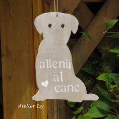 Door sign dog - plaque de porte chien - targa cane