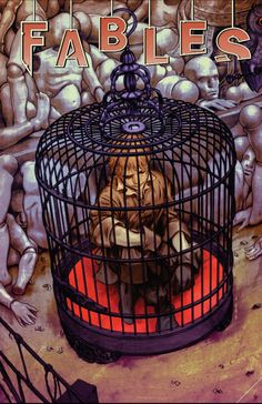Fables - He's Only a Bird in a Gilded Cage: Chapter Four of Homelands (Issue) Comic Book Covers, Comic Books, Fables Comic, Boy Blue, Homeland, Cage, Spiderman, Novels, Animation
