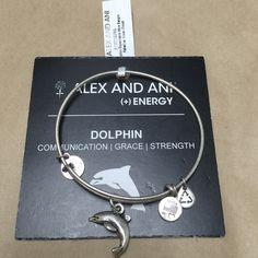 Alex and Ani bracelet! 100% Authentic Dolphin bracelet, new with tag and card! Alex & Ani Jewelry Bracelets