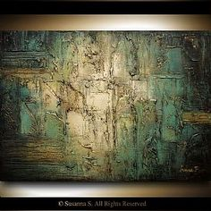 Original abstract palette knife painting by Susanna Abstract Painting Techniques, Abstract Paintings, Knife Painting, Contemporary Abstract Art, Abstract Wall Art, Structure Paint, Teal Art, Original Art, Original Paintings