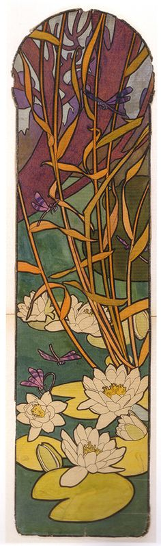 Design for the 4 indoor stained glass panels of the Bijouterie Fouquet - Paris, musée Carnavalet
