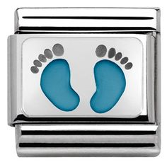 Nomination Baby Boy Footprints Charm | Argento.com