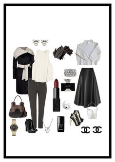 """""""Day into Night: Part Deux"""" by kim-greene ❤ liked on Polyvore featuring MaxMara, Giuseppe Zanotti, T By Alexander Wang, Lanvin, Dsquared2, Vanessa Bruno, Hogan, Mark Broumand, Marc by Marc Jacobs and MBLife.com"""