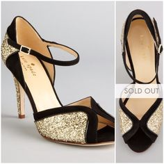 "Kate Spade Glitter Heels • Two-tone suede and glitter • Hourglass shaped vamp • Peep-toe • Adjustable ankle straps • 3 1/2"" covered heel • Made in Italy NWT - Comes with box and dust bag - never worn out, only tried on for size. kate spade Shoes Heels"