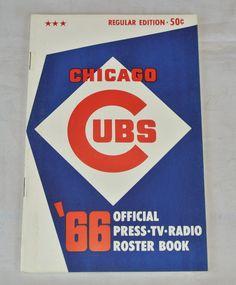 VINTAGE 1966 CHICAGO CUBS OFFICIAL PRESS TV RADIO ROSTER BOOK