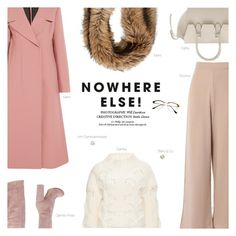 """""""Blush"""" by amberelb ❤ liked on Polyvore featuring CÉLINE, Gianvito Rossi, Giamba, Marni, Retrò and Ann Demeulemeester"""