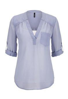 3/4 sleeve chiffon blouse with pocket (original price, $29) available at #Maurices (size Med color any)