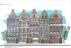 Architectural Illustration: Brussels, Belgium