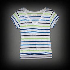 Abercrombie&Fitch レディース Tシャツ  アバクロ Beth Tee ニット Tシャツ