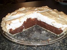 Learn how to make chocolate pie recipes. This is a chocolate meringue pie. The chocolate is a rich. creamy chocolate taste and the meringue is light and fluffy.