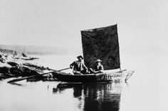 Anna, first boat on Yellowstone Lake; William H Jackson; 1871