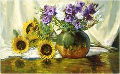 Sunflowers & Lisianthus | John Carroll Doyle