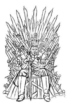Free coloring page «coloring-adult-game-of-throne-ned-starck-by-luxame».