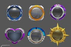 3d metal badges preview 02