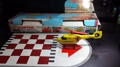 Sears Canada Vintage 80s Toy Helicopter play set by VintageToyNerd