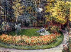 Claude Monet In The Garden oil painting reproductions for sale