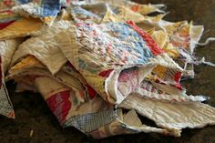 What to do with tattered quilts
