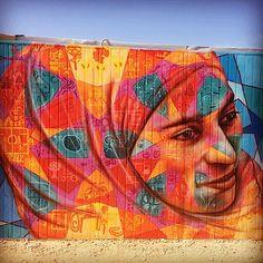 Joel Bergner street art in the Za'atari Syrian Refugee Camp, Jordan.