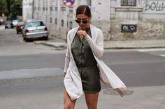 Fashion Babe : Dunja wearing #hm romper and #mango cardigan