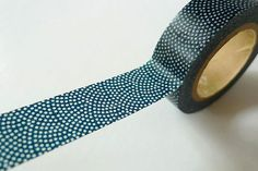 Fournisseur -- Japanese Washi Tape BLUE Dots Traditional Japanese Pattern MT - Pretty Tape via Etsy