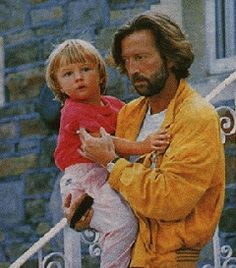 Eric Clapton with Conor Clapton - son of musician Eric Clapton 1991 --- fell out of . Eric Clapton Wife, Rock Music, My Music, Music Notes, Peter Paul And Mary, Billy Preston, Tears In Heaven, The Yardbirds, Blind Faith