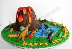 how to make volcano cake | Had such a ball making this one! no need for smooth ganache or fondant ...