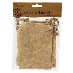Sacks-N-things by the Paper Studio Jute & Linen Drawstring Bags | Shop Hobby Lobby