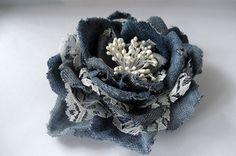 Цветы из джинсовой ткани - Страница 4