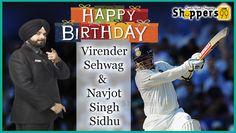 Wishing a very Happy Birthday to #VirenderSehwag & #NavjotSinghSidhu. #HappyBirthdayVirenderSehwag #HappyBirthdayNavjotSinghSidhu