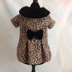 Designer Leopard Print Lined Dress Coat & Matching by princessamee