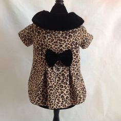 Designer Leopard Print Lined Dress Coat & Matching by princessamee, $120.00