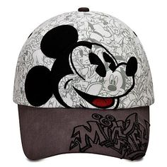 mickey+mouse+baseball+party+decorations   Sketch Mickey Mouse Baseball Cap for Adults   Hats, Gloves & Scarves ...