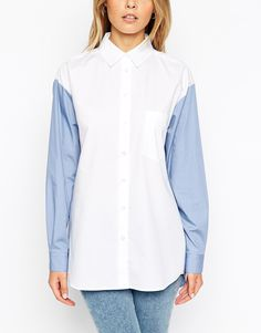 Colour Block Boyfriend Shirt