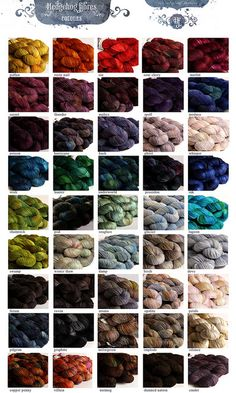 One of my favorite yarn companies hands down Wool Yarn, Knitting Yarn, Hand Knitting, E Farm, Hedgehog Fibres, Spinning Wool, Colour Pallette, Color Charts, Weaving Projects