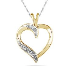 Purchase Solid Gold Round Cut White Genuine Natural Diamond Accent Heart Pendant with Chain Necklace # Free Stud Earrings from JewelryHub on OpenSky. Share and compare all Jewelry. Solid Gold, White Gold, Zales Jewelry, Peoples Jewellers, Diamond Stone, Diamond Are A Girls Best Friend, Necklace Designs, Natural Diamonds, Colored Diamonds