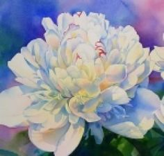 The Peony flower in a Painting