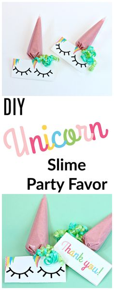 For that magical Unicorn party you are hosting I have made the most adorable unicorn birthday party favors! I know that the little ones are going to go crazy over these because they are unicorns with slime! These will add the perfect touch to your Unicorn Birthday party!