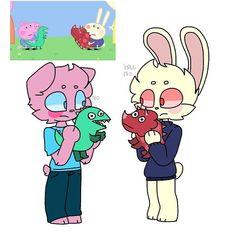 Cute Disney Drawings, Cute Kawaii Drawings, Cartoon Pics, Cute Cartoon, Pig Character, Animes Yandere, Creepypasta Cute, Baby Halloween Costumes For Boys, Anime Girlxgirl