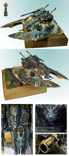 ELDAR FALCON - GOLD W40K VEHICLE GD POLAND 2007