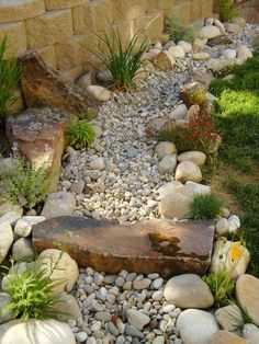 Garden Landscaping Ideas for Front and Backyard - MORFLORA Awesome Dry River Bed Landscaping Design Ideas You Have Owned On Your Garden