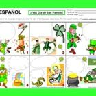 Spanish St. Patrick's Day Speech Bubble Creative Writing Activity by Sue Summers - Students use their imaginations and creativity as they complete 6 different squares containing colorful characters and scenes related to St. Patrick's Day.
