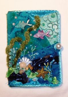 I ❤ crazy quilting & embroidery . . . Needlebook (closed) ~By Nicki Lee
