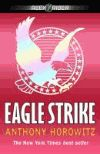 Eagle Strike  by Anthony Horowitz: After a chance encounter with assassin Yassen Gregorovich in the South of France, teenage spy Alex Rider investigates international pop star and philanthropist Damian Cray whose new video game venture hides sinister motives involving Air Force One, nuclear missiles, and the international drug trade. -- Destiny Quest