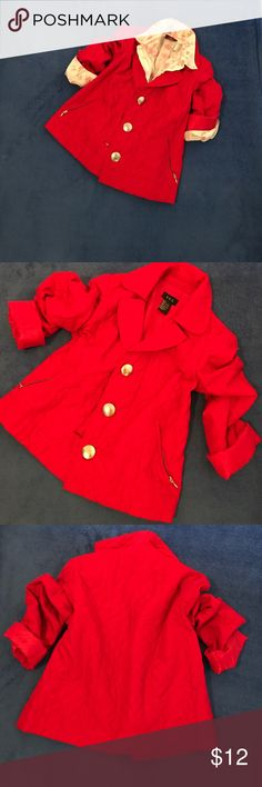 R.Q.T red jacket size s, 100% polyester Lightweight red jacket. Fit for medium to. Perfect condition.  Thank you so much for looking and sharing. R.Q.T. Jackets & Coats Blazers