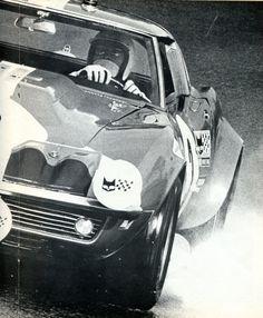 Henri Greder & Humberto Maglioli - Chevrolet Corvette C3 (V8 7 litres) 24 Heures du Mans 1968 - Virage auto février 1969.