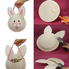 Easter Kids Crafts Ideas - Easter Bunny Crafts for Kids - Easter Chick Crafts for Kids Art Activities For Kids, Bunny Crafts, Easter Activities, Easter Crafts For Kids, Art For Kids, Children Crafts, Art Children, Easter Ideas, Paper Plate Crafts