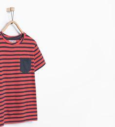 ZARA - REBAJAS - Camiseta rayas bolsillo 5 MIL