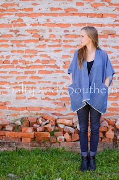 All Denim Poncho by SaltynSouthern on Etsy